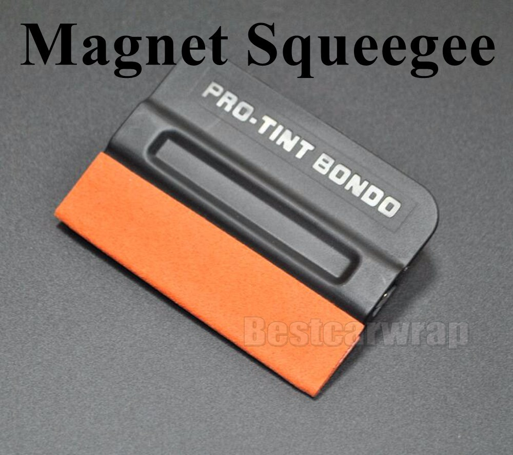 MAGNETIC magnet Pro Tint Bondo Suede Edge Squeegee Teflon Fibre Vinyl Sheet Car Wrap Applicator (3)