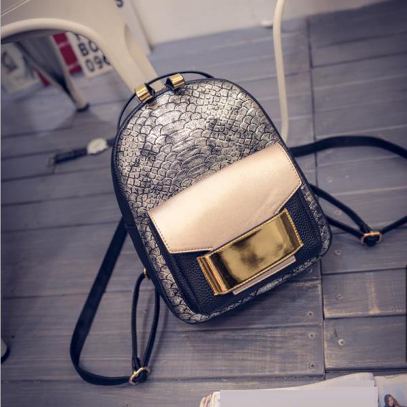 2016 Fashion Mochilas Preppy Style Vintage Backpack PU Leather Packback Female Shoulder Travel Bag Brand Designer Women Girl Bag(China (Mainland))