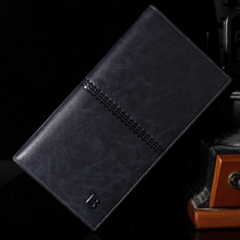 Luxury Leather Wallet Famous Brands Men Wallets Mens Long Wallet Male Money Purses with Flip up ID Window Carteira Masculina