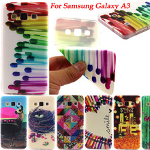 Fashion Ultra Thin Gel Soft TPU Pattern Case For SAMSUNG GALAXY A3 A300 A3000 Silicone ShockProof Phone Back Skin Cover Bags