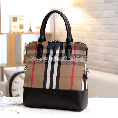 2015 Europe and America Classical style womens canvas Plaid handbag fashionable cross body 2 colors bag online free shipping<br>