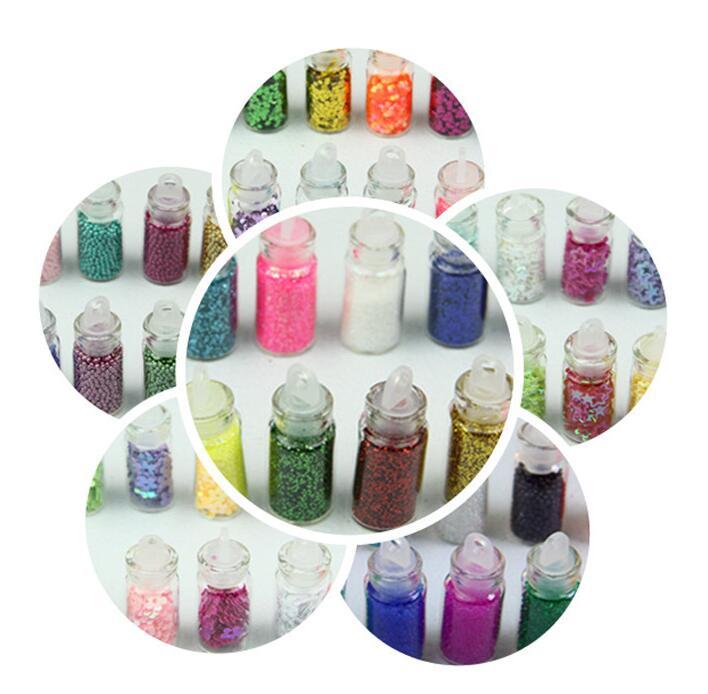 MiniNail Art Glitter hexagon Powder beads Decoration Metal Shiny Dust Acrylic UV Gel Polish Accessory Tip DIY Manicure Tools(China (Mainland))