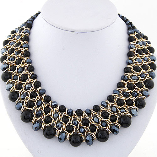 Statement Necklaces Hand-woven vintage big crystal necklaces &amp; pendants statement jewelry necklaces Women accessories  wholesale<br><br>Aliexpress
