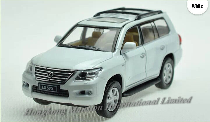 1:32 Scale Diecast Alloy Car Model For LEXUS LX570 Collection Model Pull Back Toys Car With Sound&Light -Blue/ Red/ White/ Black(China (Mainland))