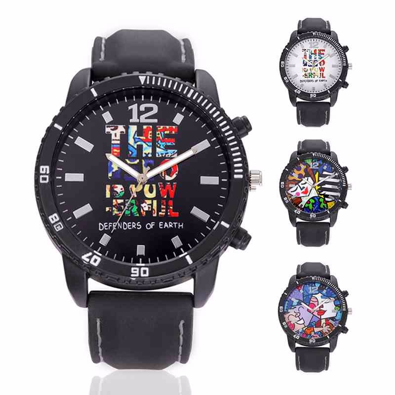 Men's Hip hop Graffiti Popular Fashion Wrist Watches Cool teenager Men Style Quartz Watch Best Quality YJPb35(China (Mainland))