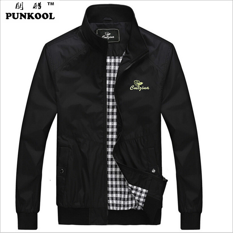 New Fashion  Spring  Men Thin Version Sports  Overcoat Men Stand Collar Casual Zipper Jacket  Plus Size Coat: M~4XL 3ColorsОдежда и ак�е��уары<br><br><br>Aliexpress