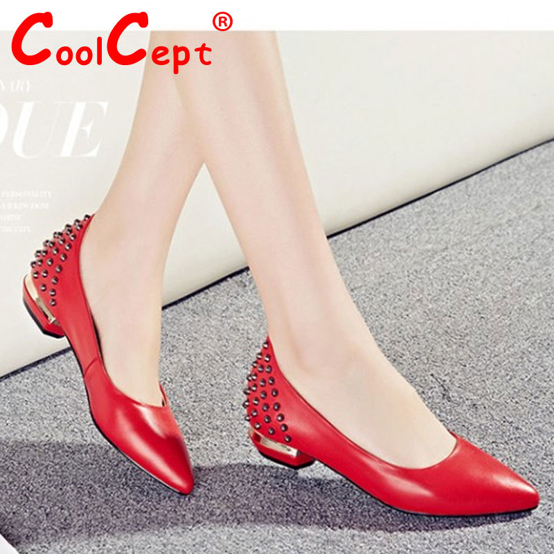 women real genuine leather party casual flats leisure shoes sexy fashion brand ladies shoes Zapatos Mujer size 34-39 R5772<br><br>Aliexpress