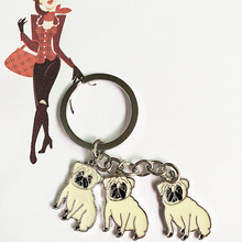 Fashion Starling Pet Keychain Dog Key Ring DIY Metal Animal Keychains Key Chain for Bag Keyring For Women Girl Super Discount(China (Mainland))