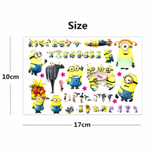Hot Minion Toy Despicable Me Temporary Flash Tattoo Body Art Sticker 17 10cm Waterproof Tatoo EN71
