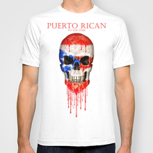 puerto rico skull flag new fashion man tshirt cotton o neck mens short sleeve mens tshirt funny male tops tees wholesale