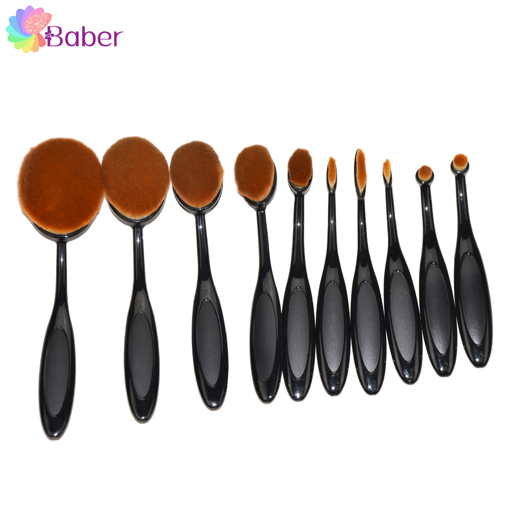 Women Makeup Organizer Brushes High Quality Super Soft Thick Withstand 90 Degree Bend Oval Cream Power Cosmetic Beauty Brushes(China (Mainland))