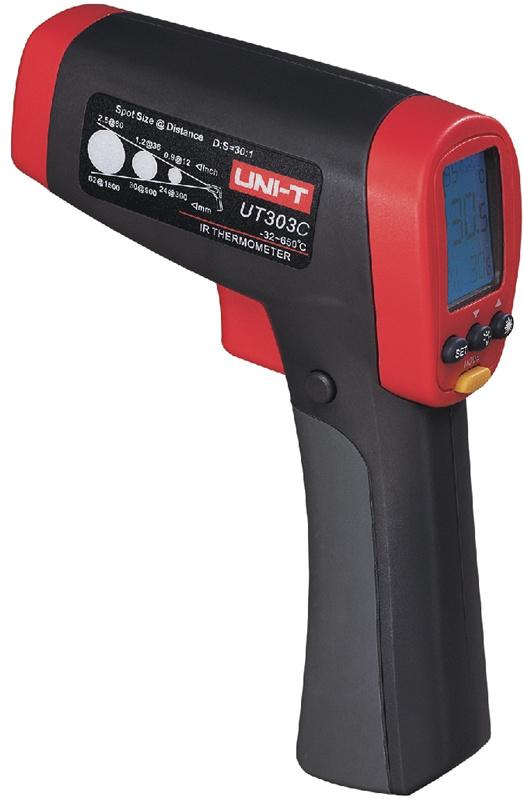 Uni-t UT303C eletronico de alta precisao sem contato IR Digital Laser termometro infravermelho - 32 ~ 1050 Celsius / 30 : 1<br><br>Aliexpress