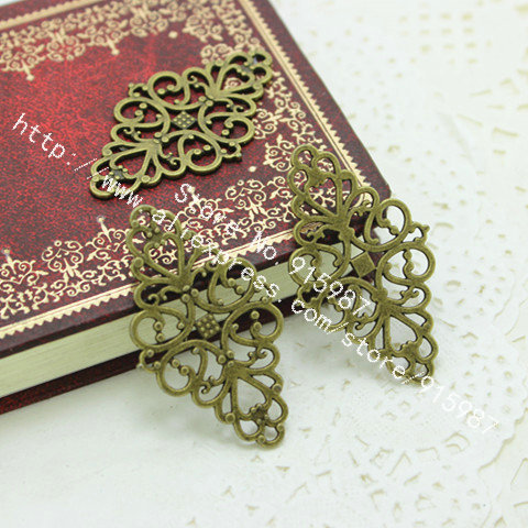 wholesale 30pcs/lot Hollow Filigree Flower Charm Jewelry Connectors 25*41mm Vintage Filigree Jewelry Findings D0224<br><br>Aliexpress