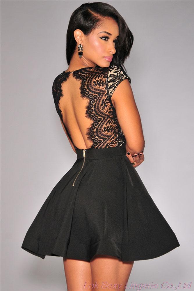 Платье колокольчик с открытой спиной