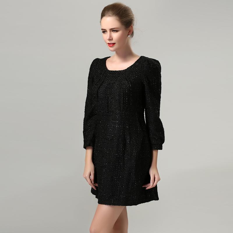 plus size dresses black