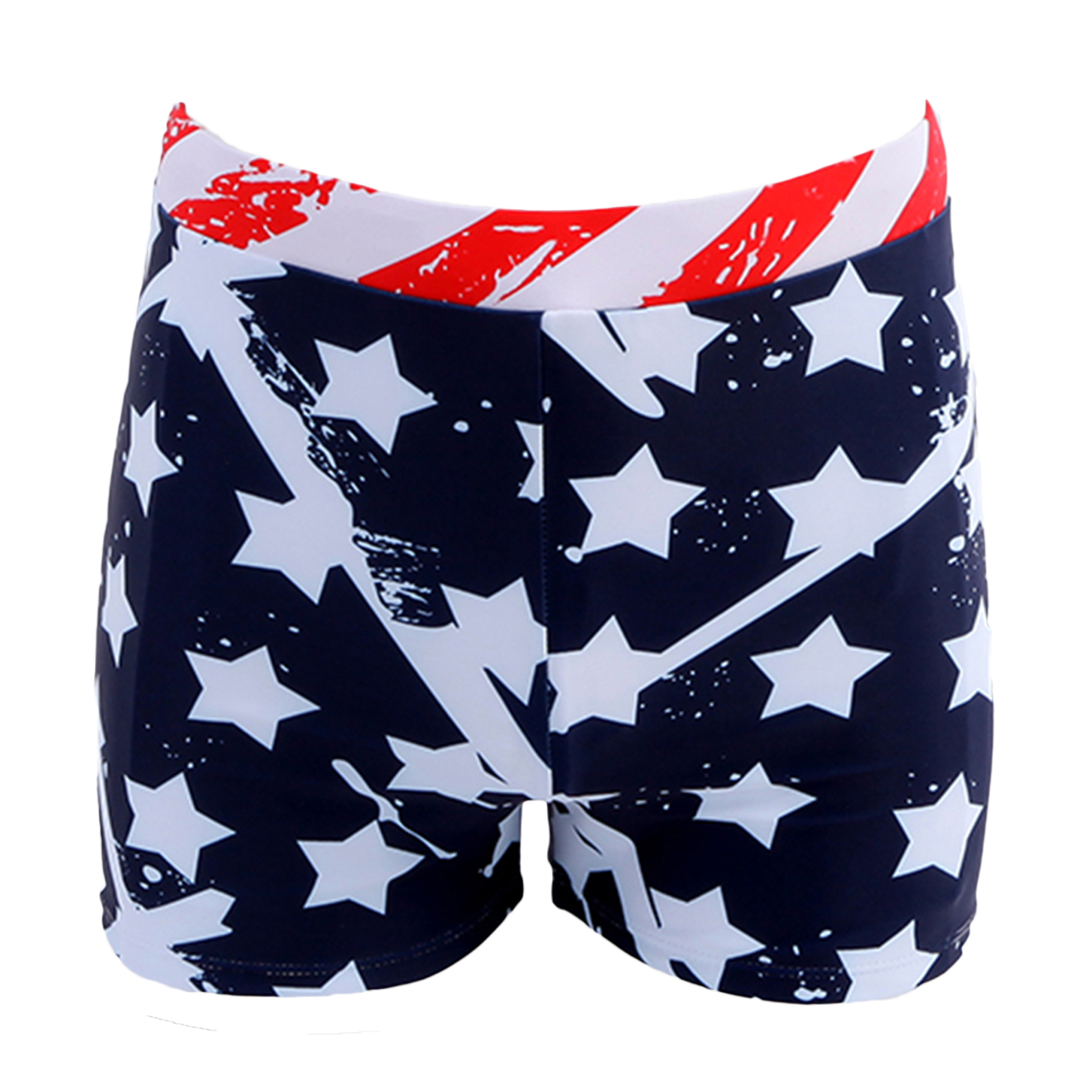 Summer Stars and Stripes American Flag Square Leg Swimming Breathable Trunks Male Swimming Mens Swim Shorts Surf Board Wear(China (Mainland))