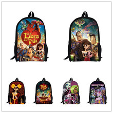 2015 New Fashion Children Cartoon School Backpacks 3D The Book of Life Printing Backpack Girls The Day of the Dead Bagpack Bag(China (Mainland))
