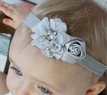 Buy Newborn Flower Headband Kids hair Flower Accessories Newborn diamond Rose Flower Chiffon Headband Ring Elastic Hair Bands W040 for $1.04 in AliExpress store
