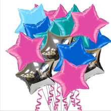 festa globos 10inch Multicolor foil balloons pink star bola birthday wedding decoration inflatable air balloons Classic toys