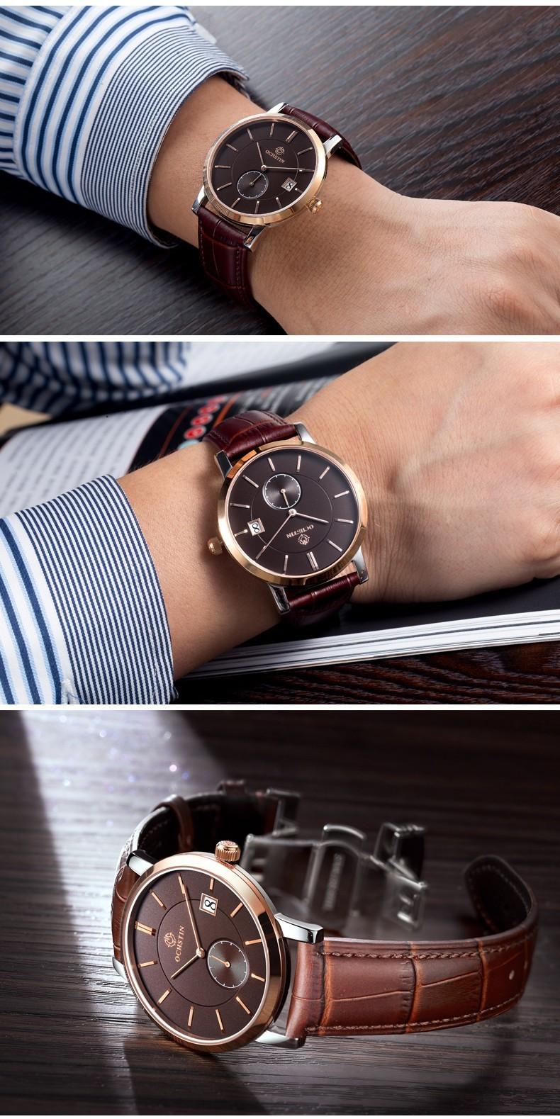 Мода OCHSTIN Марка Мужчины Кварцевые Часы Мужчин Мужской Платье Часы Военные Часы Мужчины Relogio Masculino Montre Homme Reloj
