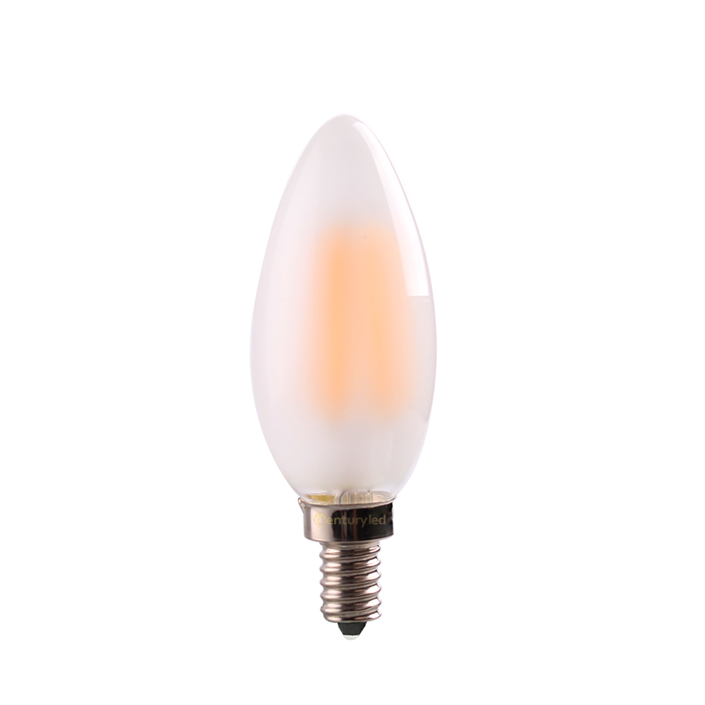4W 6W E12 E14 C35 LED Frosted Filament Candle Bulb Edison Lamp 110V 220VAC Soft Warm 2700K LED Decorative Lighting Dimmable(China (Mainland))