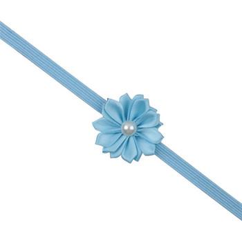 Newly Design Baby Girls Rhinestone Pearl Flower Headbands Brief Infant Hairbands Aug7