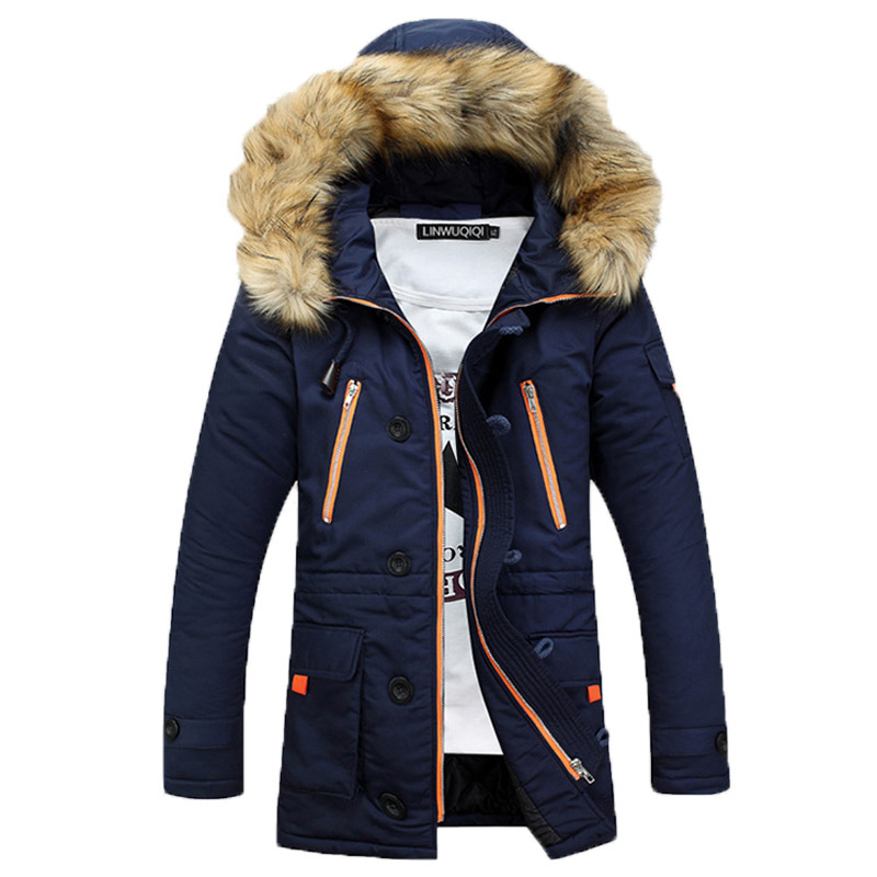 New arrival 2015 Fashion Men's Parkas Jacket Winter Coats Mens Wadded Jacket Man Down Warm Parka Coats Outwear 130(China (Mainland))