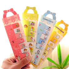 2016 Real Hot Sale Kawaii Planner Stickers Post It Sweet Bow Cartoon Animals Mini Sticky Memo Pad N Times Notes Notebook K7461