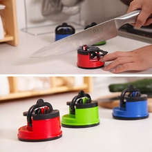 New Amazing Manual Knife Sharpener Tungsten Steel Carbide with Secure Suction Pad Chef Kitchen Sharpening Tool Scissors sharpner(China (Mainland))