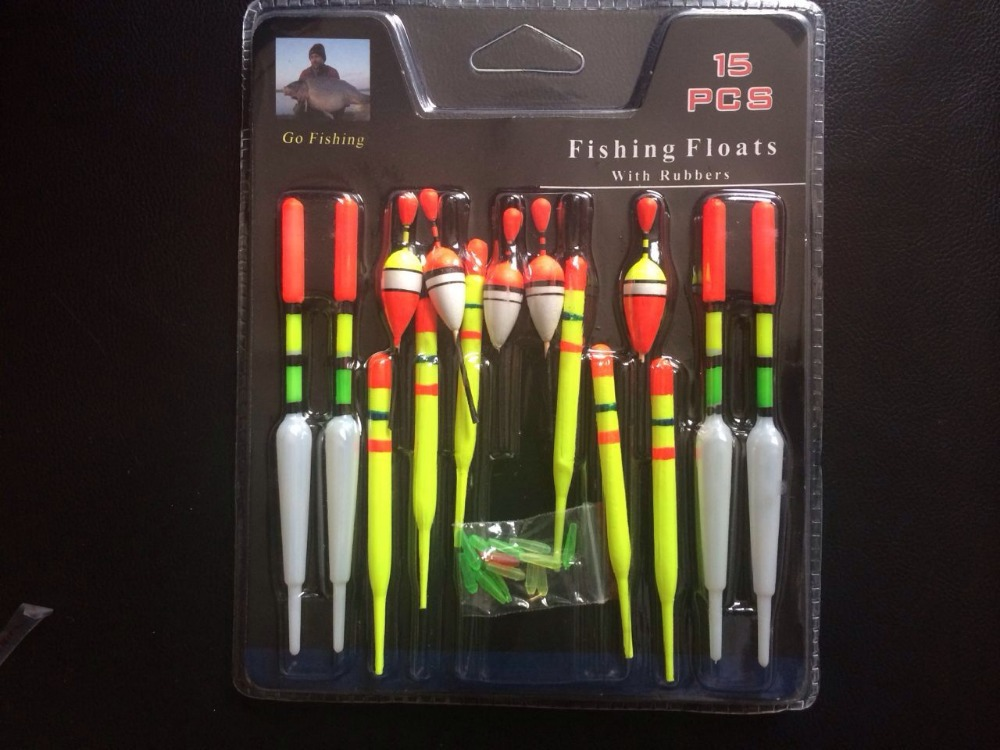 2015 Fish fishing floating charms floats stem bobbers set waggler kit plastic combination float fishing tackle