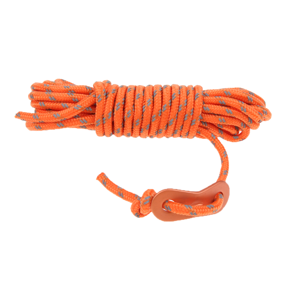4mm Reflective Tent Guide Rope Guy Line Cord Essential Camping Survival Gear for Outdoor Camping Tent Awning Canopy Tarp Access