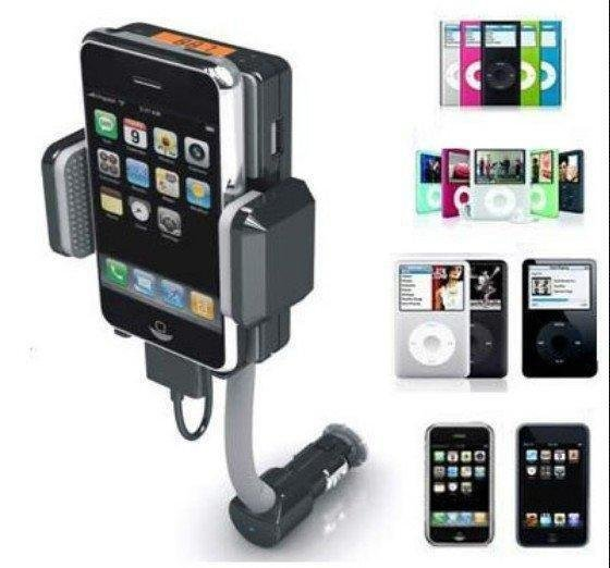 Global EMS free shipping:ALLKIT + 3G +3 GS + FM transmitter + Charger + Remote Control+car mp3 player(China (Mainland))