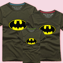 Men Women Couple Matching Outfits Dad Boys Cotton T Shirts Kids Batman Tee Shirts Children Summer T-shirts Tops Family Clothing