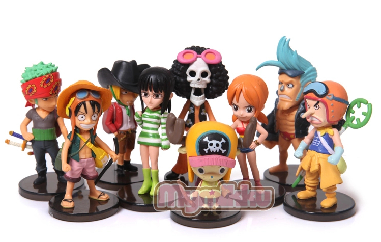 [2014 new] Free Shipping 5-8cm One Piece luffy Joba 's Adventure 9pcs/set PVC Action Figure Collection Model Toy Gift OP9#2(China (Mainland))
