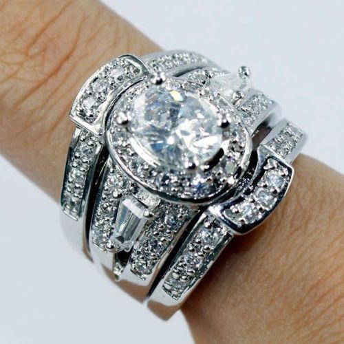 3 Piece Wedding Ring Sets Uk