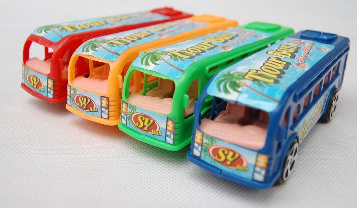 Brinquedos para crianças da parte de trás do ônibus modelo de carro de brinquedo de plástico brinquedo educacional das crianças carros de ônibus(China (Mainland))