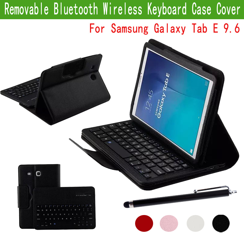 For Samsung Galaxy Tab E 9.6 inch SM-T560 Tablet Detachable ABS Bluetooth Keyboard Portfolio Leather Ultra Slim Stand Case Cover<br><br>Aliexpress