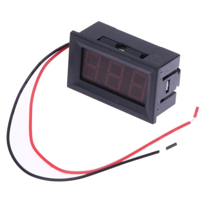 Digital Voltmeter Gauge : Buy v dc inch voltmeter board led amp digital volt