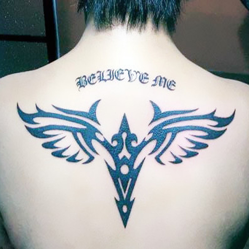 temporary tattoos back large wings fake transfer spray tattoo stickers sexy body art makeup high. Black Bedroom Furniture Sets. Home Design Ideas