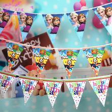 12 Pieces Birthday Photography Props Newborn Baby Birthday Flags Varies Theme For Birthday Celebration Photo Props Studio