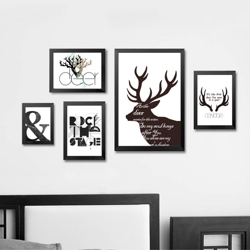 Deer Wall Pictures Painting by Numbers Canvas Art Posters and Prints Cuadros Paintings for Living Room Wall Room No Frame(China (Mainland))