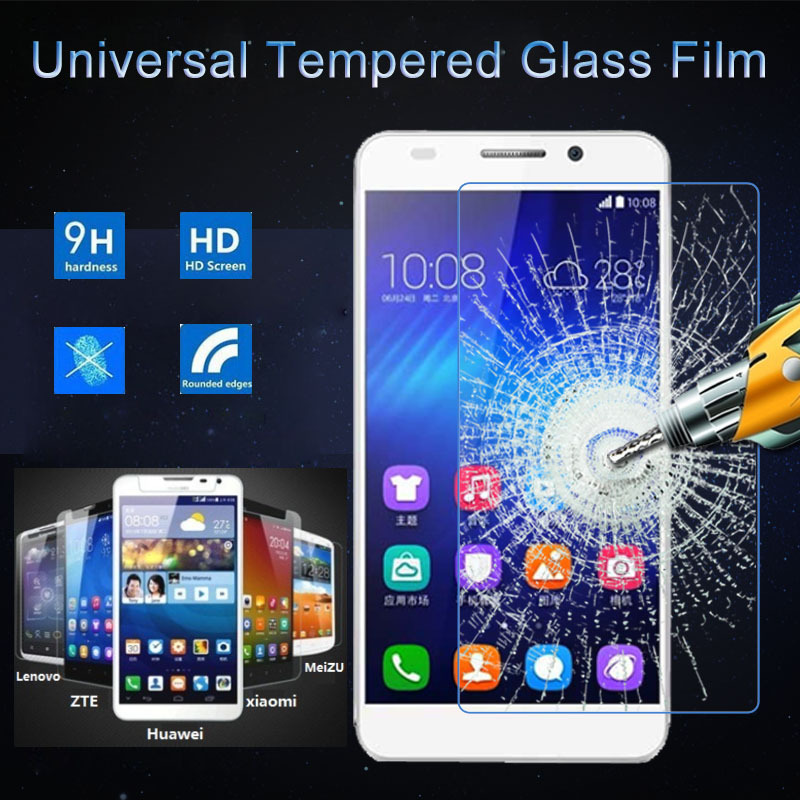Universal 9H Premium Tempered Glass Screen Protector Anti Shatter Guard Protective Film For Sony BLU Micromax