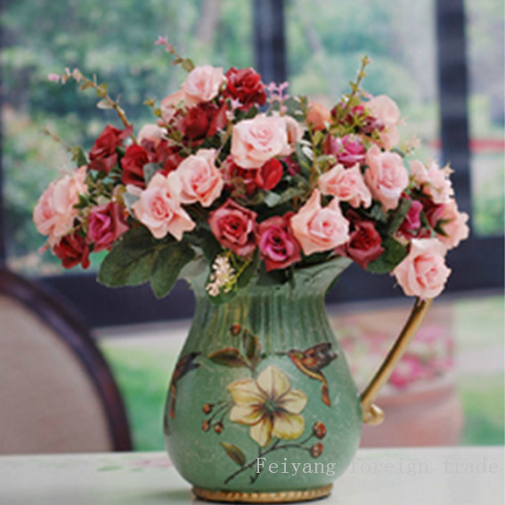 2015 Time-limited Hot Sale Cotton Diamond Embroidery Diy5d Diamond Stone Hand Vase Garden Kit Butterfly Gift Painting 20x20cm(China (Mainland))