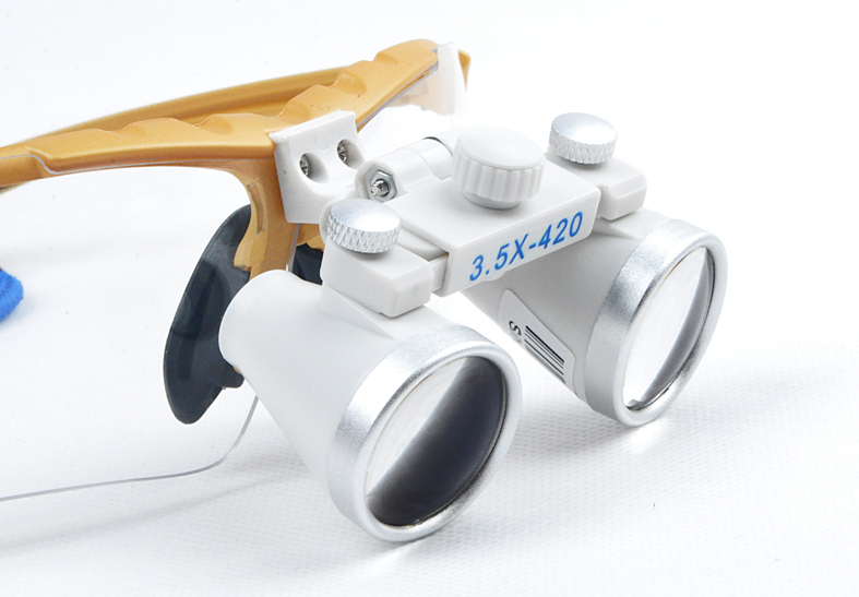 Фотография 3.5X420mm Oral and Dental whitening observation magnifier Loupes Binocular Galileo Magnifiers Lens Glasses magnifier