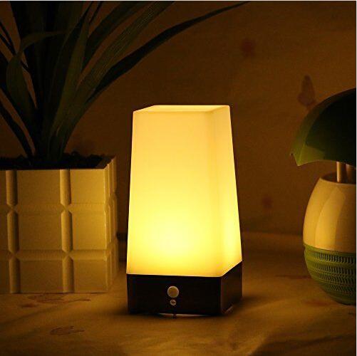 Modern Wireless PIR Motion Sensor Table Lamp Bedroom Decor LED Night Light Dining Room Battery Powered Indoor Step Light(China (Mainland))