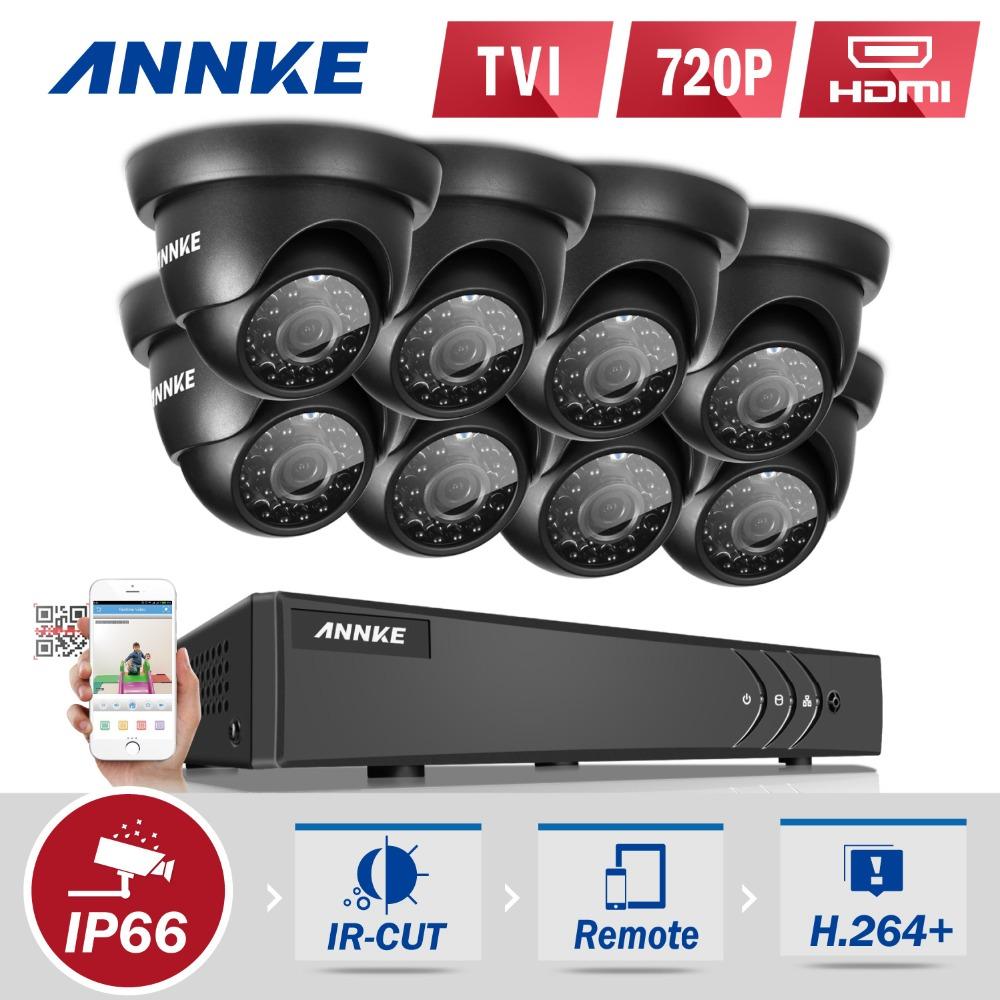 ANNKE 8CH 1080P HDMI DVR CCTV System 8PCS 720P IR Outdoor Waterproof CCTV Security Cameras 720P Video Surveillance kit(China (Mainland))