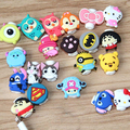 Lovely 30pcs lot Cartoon USB Cable Earphone Protector headphone line saver For Samsung HTC charging line