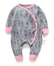 newborn baby girl romper spring warm rabbit rompers baby long sleeve baby quilted pajamas jumpsuit toddler overalls unisex body