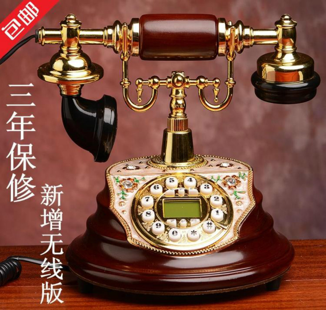 Brand Name:MYS Quality fashion phone antique telephone/old fashioned household wired telephone/Caller ID Hands-free/backlit(China (Mainland))