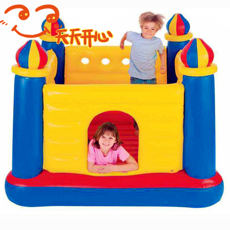 Intex Child inflatable toys trampoline household type trampoline indoor trampoline 175*175*135cm(China (Mainland))